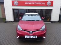 MG3 3FORM SPORT, PRE-REGISTERED NEW CAR, RUBY RED WITH WHITE ROOF. 0% APR FINANCE AVAILABLE