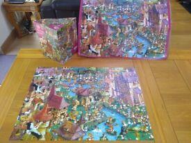 Heye 1000 piece jigsaw puzzle - BUNNY TOWN