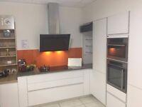 Pronorm matt white kitchen units and worktops