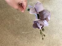 Crown and glory lilac orchid fascinator