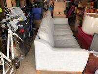 Oak furniture land light blue sofa