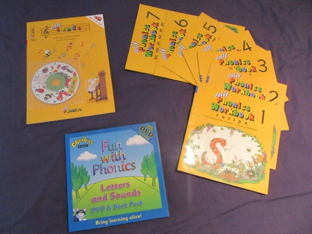 Jolly Phonics 7 Workbooks and Jolly Songs Book and CD plus Cbeebies Fun  with Phonics DVD & Book | in South Croydon, London | Gumtree