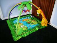 Baby play gym play mat with lights and sounds