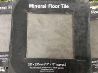 Mineral floor tiles