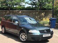 2004 VW PASSAT 1.9 TDI 130 BHP HIGHLINE FULL BLACK LEATHER HEATED SEATS LONG MOT NEW CAMBELT MINT!