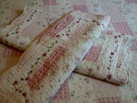 Lovely Double Quilted Throw and Matching Pillow Shams