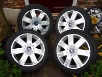 FORD MONDEO GHIA X MK3 17 INCH ALLOYS AND TYRES