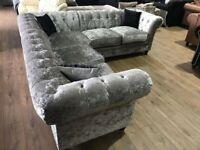 ( CASH ON DELIVERY ) NEW CRUSH VELVET CHESTERFIELD CORNER SOF OR 3+2 SOFA SET AVAILABLE NOW IN STOCK
