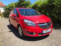 2016 vauxhall meriva 1.4i life mpv 5 door red only 800 miles!!