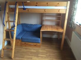 Thuka high sleeper with desk and guest bed