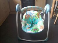 Bright starts baby bouncer and swing