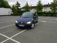 Vauxhall zafira 7 seater 1.6 Petrol Manual