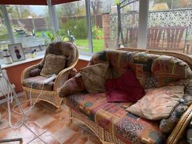 Wicker seat and chairs