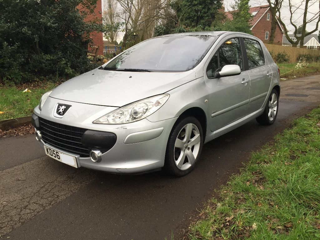 peugeot 307 1 6 hdi sport 2007 56 reg top spec facelift full black leather interior fsh in. Black Bedroom Furniture Sets. Home Design Ideas