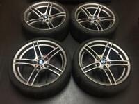 "Bmw 19"" 313 Alloy Wheels & Runflat Tyres Staggered rear - 313m 9J M sport mv2 mv3 mv4 alloys wheel"