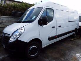 2013 Vauxhall Movano LWB f3500 125 van Low miles Very tidy, with racking NO VAT