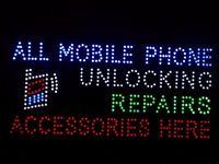 Mobile Unlocking LED Sign