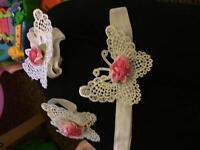 3x sets kids headband n feet set (see pix)