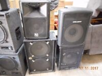 10 large speakers ideal for band or disco