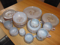 "Denby Tableware ""Reflections"" Pattern 40 Perfect Pieces Including Plates, Cups, Saucers, Bowls etc"