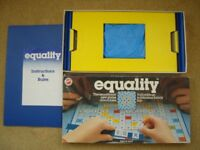 VINTAGE 1970'S EQUALITY BOARD GAME - PETER PAN PLAYTHINGS EXCELLENT CONDITION COMPLETE