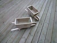 small rustic Wheelbarrow Garden Planters