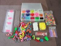 Loom band job lot - with storage container and boards