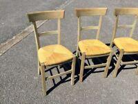 Vintage Van Gogh Style Dining Chairs x 4