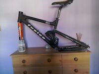 Fusion whiplash dh mountain bike frame.