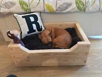 Beautiful Handmade Dogs Bed, Crate, Basket