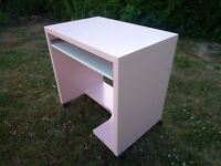 Girls Pink Ikea Computer Desk