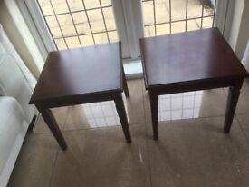 2 quality fine furniture mahogany lamp tables