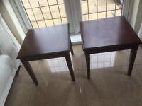 2 quality fine furniture mahogany lamp tables