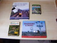 RAILWAY ENTHUSIASTS BOOKS - SMALL JOB LOT