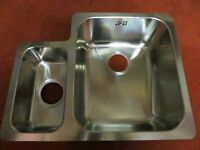 Astracast D1 1.5 Left Hand Small Bowl Undermount Sink in Stainless Steel.