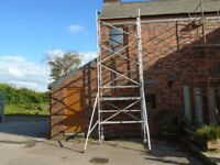 boss narrow scaffold tower 6.5m working