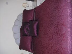 Bed (3/4size - 4ft wide) with storage, including headboard, bed spread and pillow shams