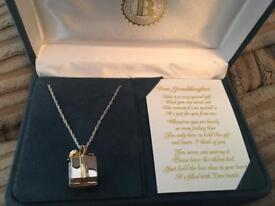 Grandma's Gift' Granddaughter Diamond Pendant