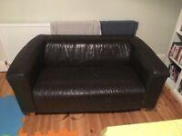 Faux leather tub sofa 2 seater - FREE