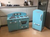 Kid Kraft Wooden Play Kitchen In Blue