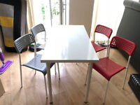Fashion Wooden Dining/Office Table with 4 chairs - Excellent Condition