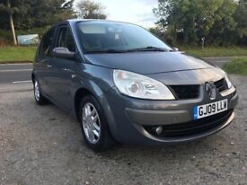 RENAULT SCENIC DYNAMIQUE S 5 2.0 VVT GREY 2009 ONLY 39,000 MILES FSH LEATHER