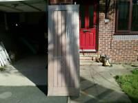 HOWDENS DORDOGNE SOLID WALNUT DOOR 27INCH X SIX FOOT SIX+HANDLES