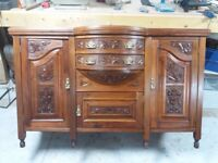 Carved antique restoredcabinet late 18th early 19th century