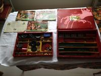 Vintage number 9 Meccano set including 2 trays and original box