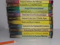 COMPLETE 11 VOLUMES OF THE GILL HISTORY OF IRELAND SERIES IN VARIOUS CONDITIONS COLLECTIBLE £40 ONO.