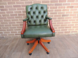 Gainsborough Chesterfield Green Chair (UK Delivery)