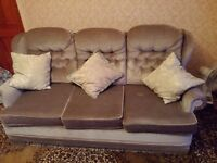 Sofa & Two Armchairs