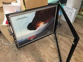 2 x black ex cinema LED poster frames
