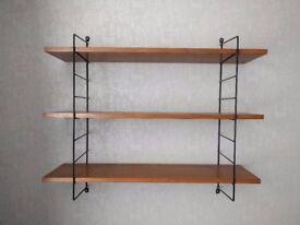 Vintage 1960's string shelving unit